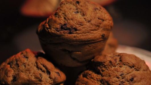 Bananen-Brombeer-Muffins
